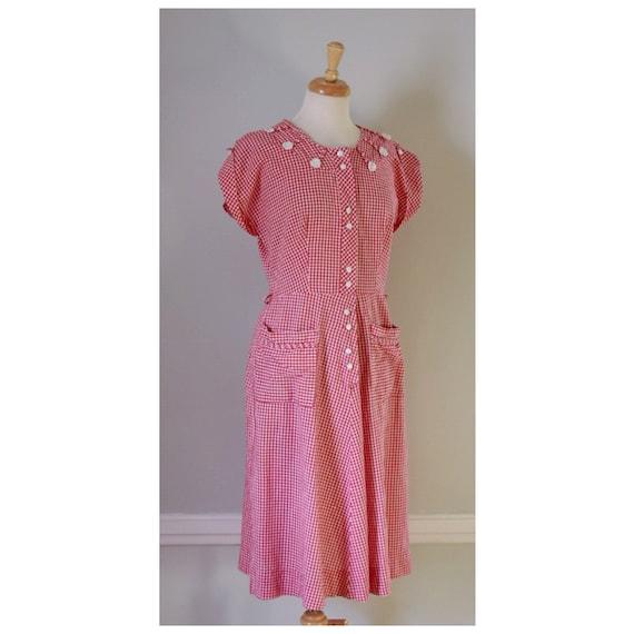30s / 40s Gingham Dress - image 4