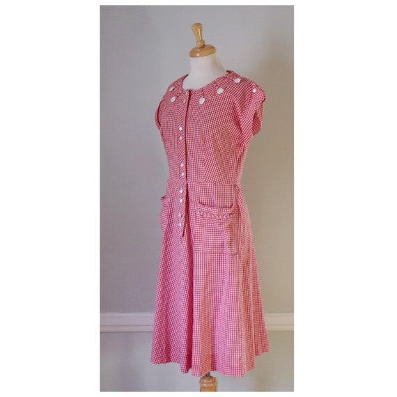 30s / 40s Gingham Dress - image 5