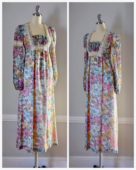 Vintage 70s Prairie Dress - image 2