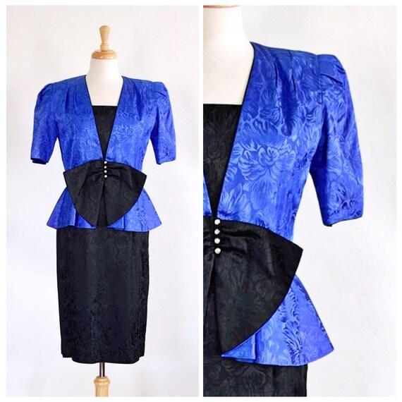 Vintage 80s Dress and Peplum Jacket