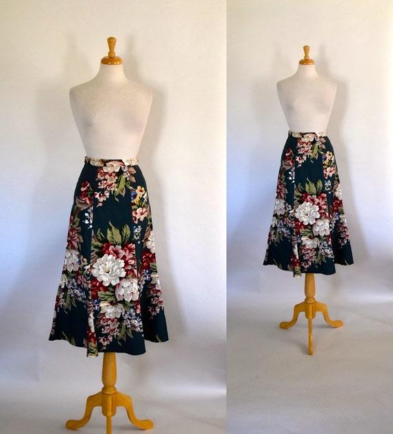Vintage Barkcloth Skirt