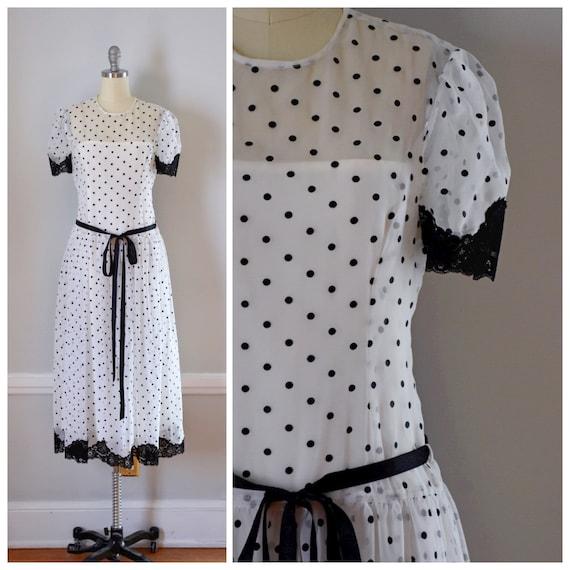 Vintage 80s Victor Costa Dress