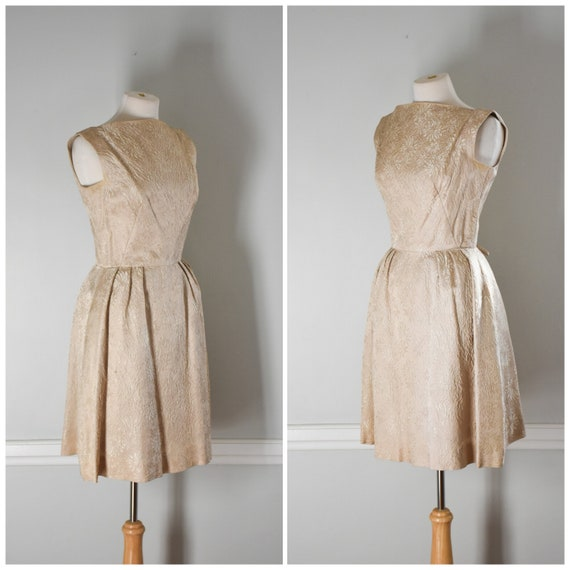 50s / 60s Vintage Brocade Dress - image 2