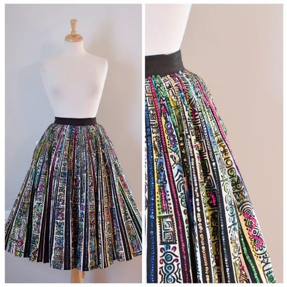 Vintage 50s Mexican Full Skirt