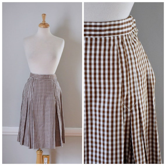 Vintage 60s Gingham Skirt