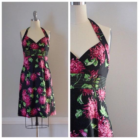 Vintage 90s Halter Dress