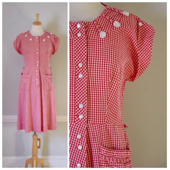30s / 40s Gingham Dress