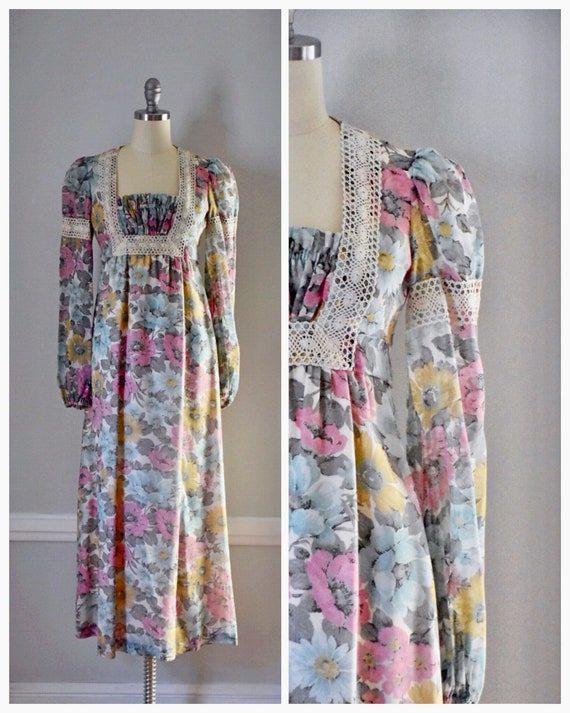 Vintage 70s Prairie Dress - image 1