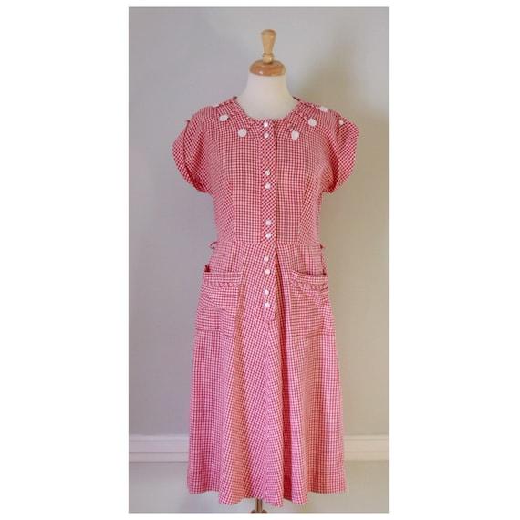 30s / 40s Gingham Dress - image 3