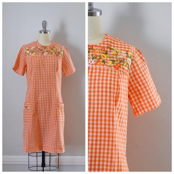 Vintage 60s Gingham Dress