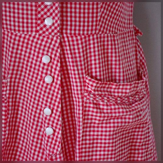 30s / 40s Gingham Dress - image 10