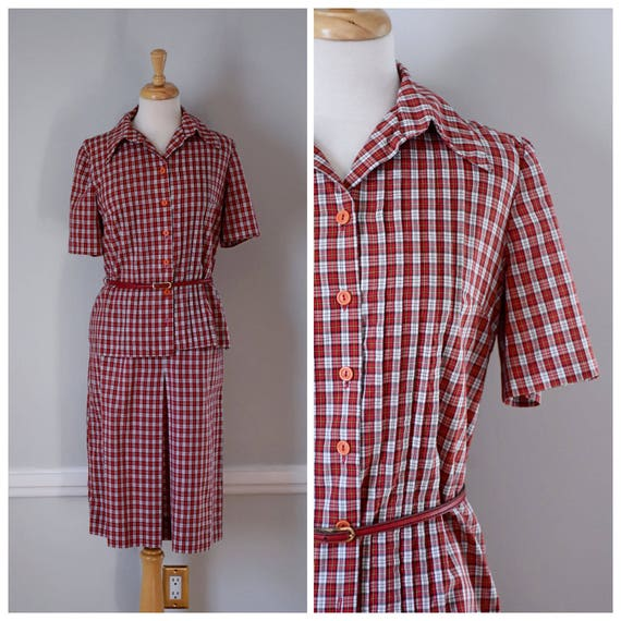 Vintage 60s Skirt and Blouse - image 1