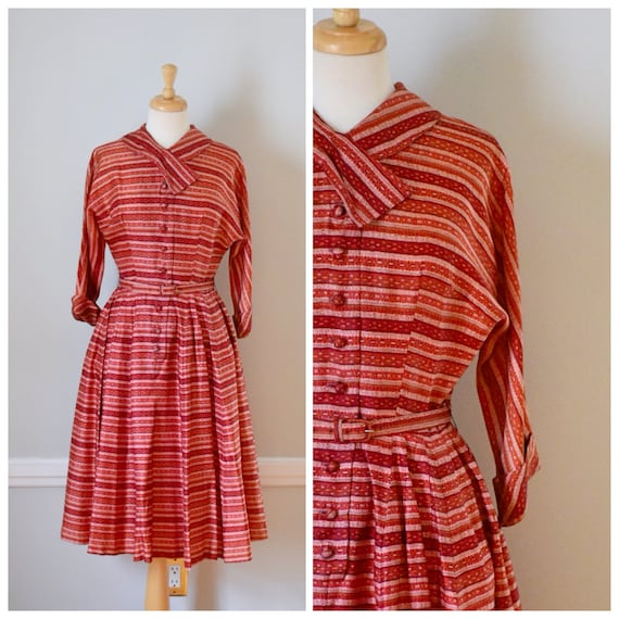 50s Vintage Shirt Dress