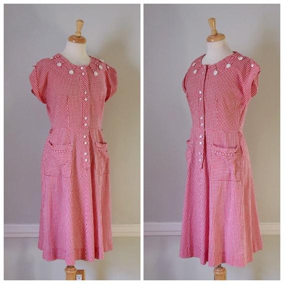 30s / 40s Gingham Dress - image 2