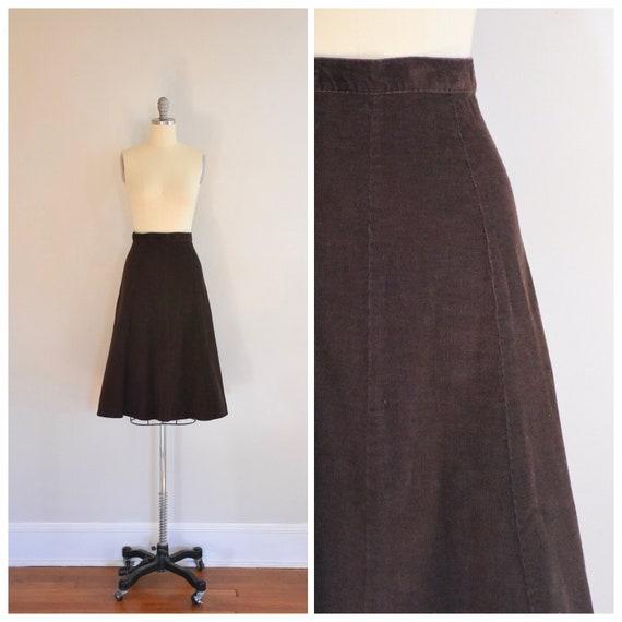 70s Vintage Corduroy Skirt