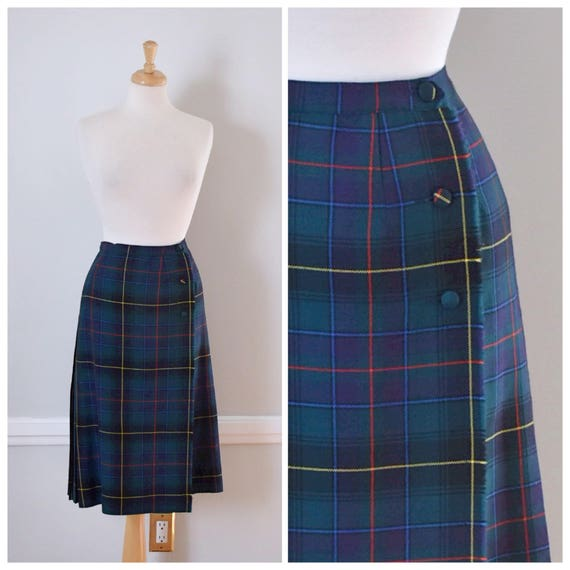 Vintage 80s Tartan Plaid Skirt
