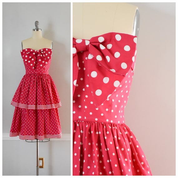 Vintage Victor Costa Peplum Dress
