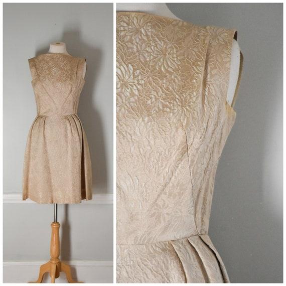 50s / 60s Vintage Brocade Dress