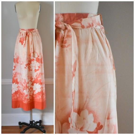 Vintage Batik Maxi Skirt