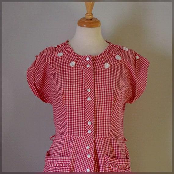 30s / 40s Gingham Dress - image 7