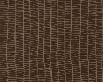 Merrily Winter Weave in Chocolate Brown,  Gingiber, 100% Cotton, Moda Fabrics, 48215 18