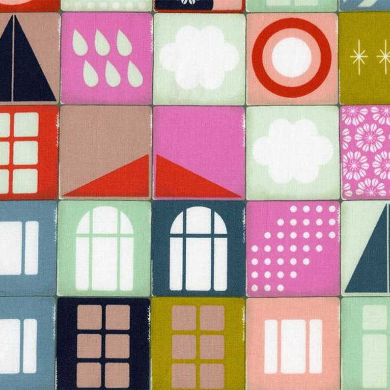 Playful Memory in Pink 0010-1 Cotton+Steel RJR Fabrics Melody Miller 100/% Cotton Fabric
