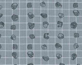 LAST PIECE Fat Quarter Carkai Grid Bits in Titanium, Carolyn Friedlander, Robert Kaufman Fabrics, 100% Cotton Fabric, afr-15795-357 TITANIUM