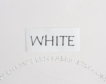 White Kona Cotton Solid Fabric from Robert Kaufman, K001-1387