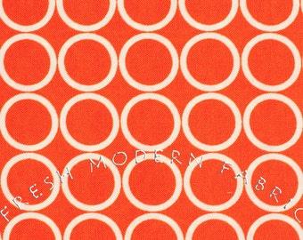 Half Yard Metro Living Circles in Orange, Robert Kaufman, 100% Cotton Fabric