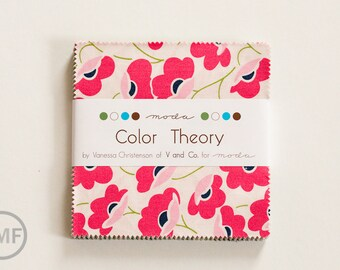Color Theory Charm Pack, Vanessa Christenson, V and Co, Moda Fabrics, 10830PP