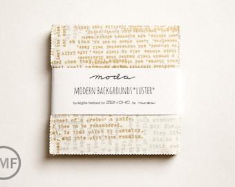Modern Background Luster Charm Pack, Brigitte Heitland, Zen Chic, Moda Fabrics, Pre-Cut Five Inch Fabric Squares, 1610PPM