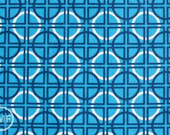 Half Yard Circle Quadrant in Turquoise, Metro Living, Robert Kaufman, 100% Cotton Fabric, EIP-11019-81 TURQUOISE
