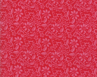 Spellbound Wander in Scarlet Red,  Urban Chiks, 100% Cotton, Moda Fabrics, 31114 11