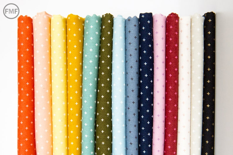 Moda Fabrics Add it Up in Soft Aqua Alexia Abegg 100/% Cotton Fabric Ruby Star Society RS4005 33