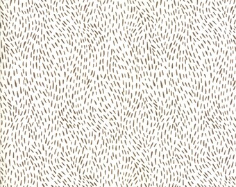 12-Inch End of Bolt Remnant Merriment Fur in Snow and Cocoa,  Gingiber, 100% Cotton, Moda Fabrics, 48277 21