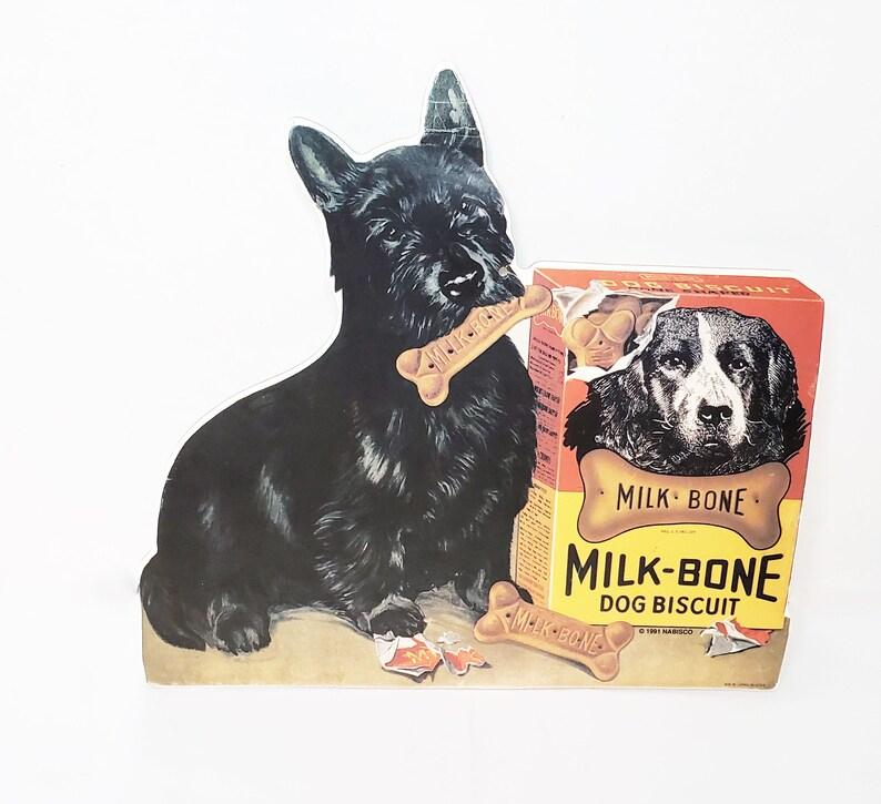 Vintage Milk Bone Dog Biscuit Cardboard Sign Replica