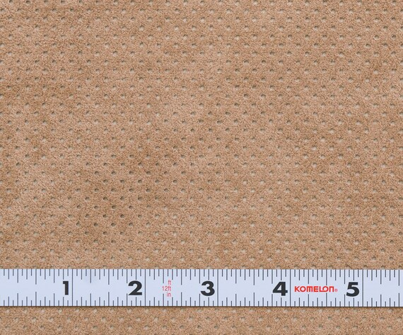 50/% Off Yardage Sale Coffee Cream Ultrasuede ST Perforated