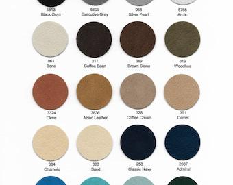"Ultrasuede Soft Sampler 12""x 9"" - Choose from 35 colors."