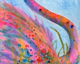 abstract bird art etsy