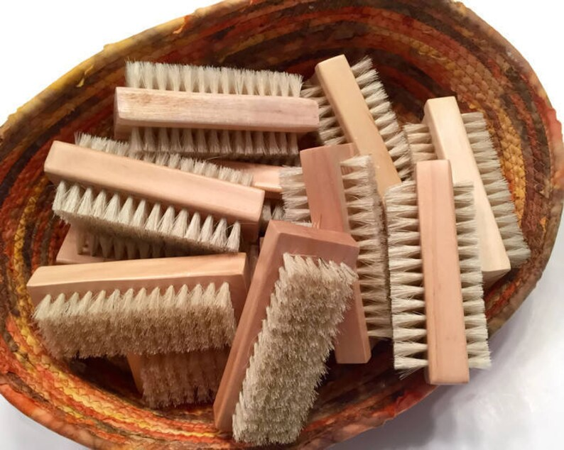 Natural Nail Brush for Cleaning Hands and Nails  Great for image 0