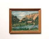 Vintage Original Signed Landscape Painting