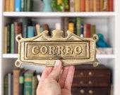 Vintage Brass Correo Slot / Mail Slot