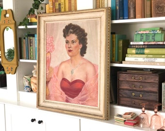 Vintage Signed Milo Corsica Alverna Female Portrait