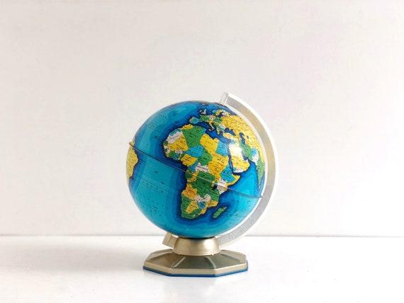 """Vintage 9"""" J Chein World Globe"""