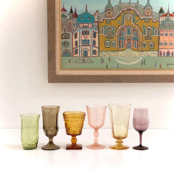 Mixed Set of Vintage Goblets and Drinking Glasses