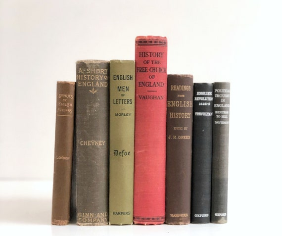 Collection of Vintage Books about England and English History