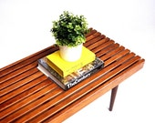 Mid-Century Slat Bench or Coffee Table