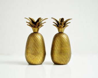 Mid-Century Brass Pineapple Candle Holder
