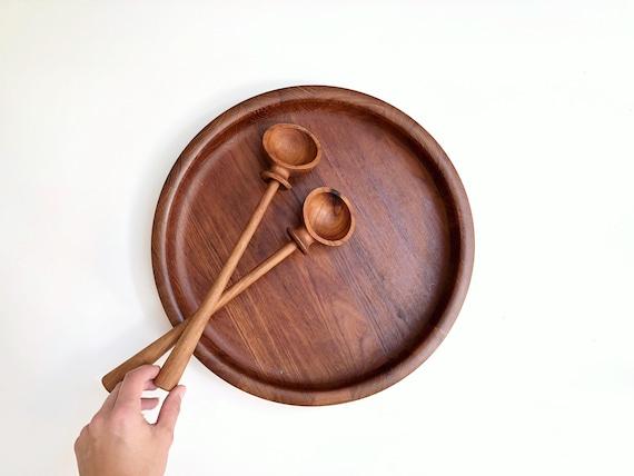 Mid-Century Dansk Serving Set - Salad Bowl and Spoons