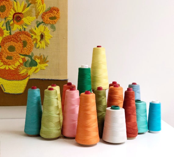 Vintage Collection of Assorted Sewing Thread - Thread Cones